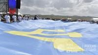Автопробег на 250 машин, концерт и танцы: в РК отметили День флага крымских татар