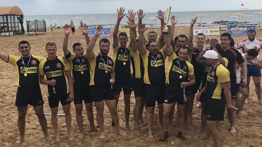 Сборная Крыма выиграла окружные соревнования по пляжному регби
