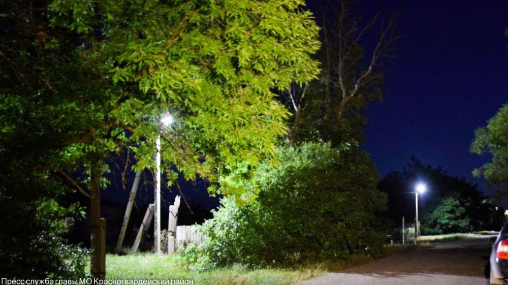 Светлая дорога: в с.Григорьевка подключено освещение
