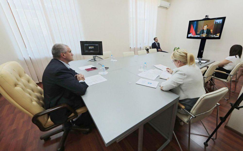 Глава Крыма принял участие в заседании под руководством Медведева по вопросам реализации нацпроектов