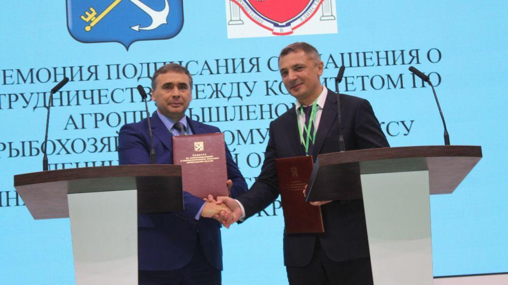 Андрей Рюмшин: Минсельхоз Крыма подписал соглашение о сотрудничестве с Ленинградской областью