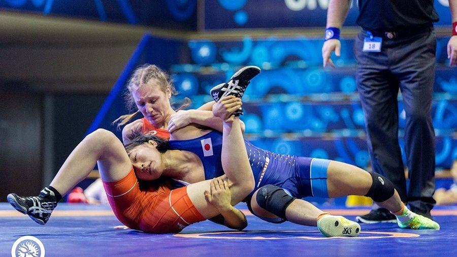 Вероника Гурская из Симферополя – в составе сборной России по женской борьбе на турнире в Турции