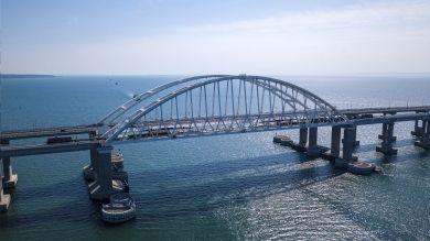 На Крымском мосту завершили укладку рельсов. Стрим