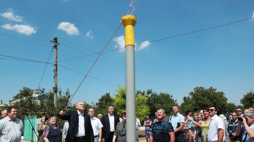 В селе Гришино Первомайского района состоялась торжественная церемония пуска природного газа