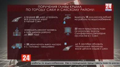 Поручения Главы Крыма по городу Саки и Сакскому району