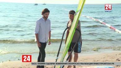 Винд-экстрим. Как быстро можно освоить сёрфинг? Прямое включение нашего корреспондента Артёма Андрановского с фестиваля «EXTREME КРЫM»
