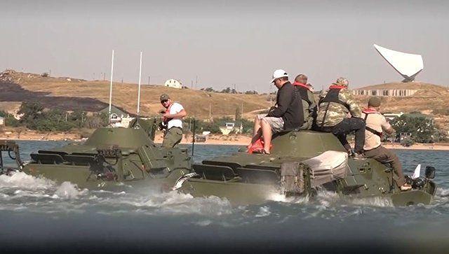 От Тамани до Керчи: как три бронемашины форсировали Керченский пролив