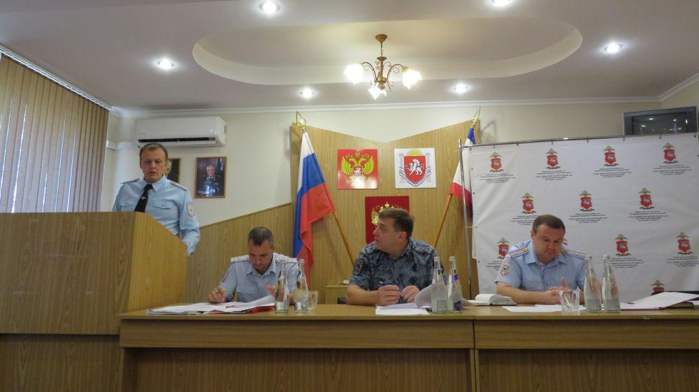 Руководством МВД по Республике Крым подведены итоги работы ОМВД России по г.Алуште за 1-е полугодие 2019 года