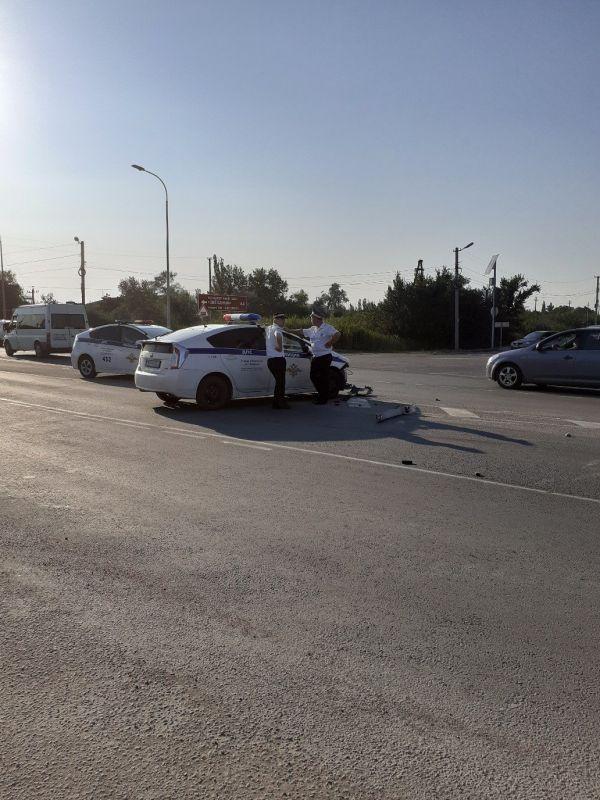 В Крыму сотрудники ДПС попали в аварию во время погони за пьяным водителем
