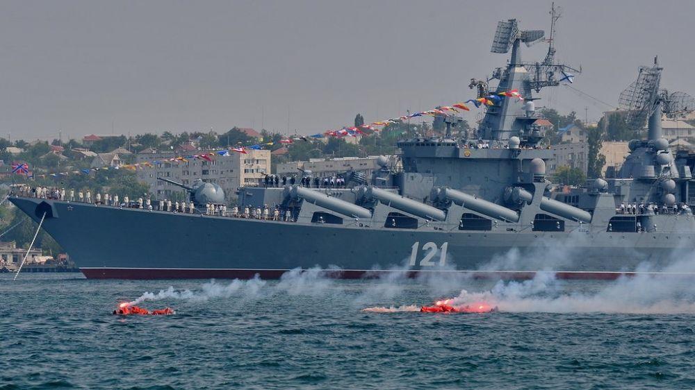Прошла первая репетиция морского парада в честь Дня ВМФ