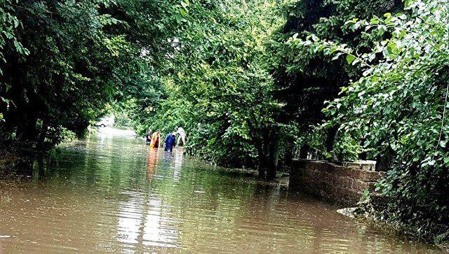 В Евпатории ливень привел к подтоплению части районов