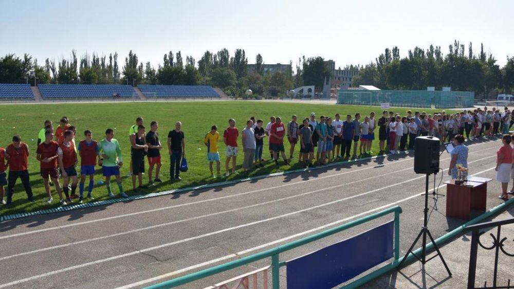 Празднование Дня физкультурника в городе Красноперекопске.
