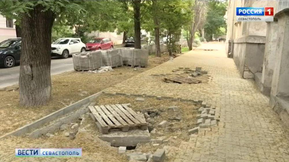 Улица Советская стала опасной для пешеходов из-за ремонта
