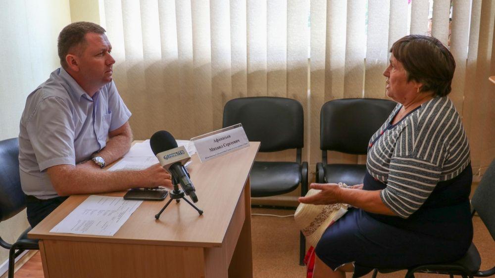 И.о. главы администрации Михаил Афанасьев провел прием граждан