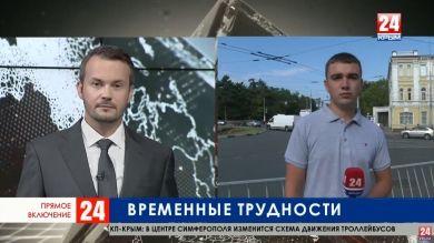 Как организовано движение транспорта после начала ремонта дороги на улице Александра Невского в Симферополе?