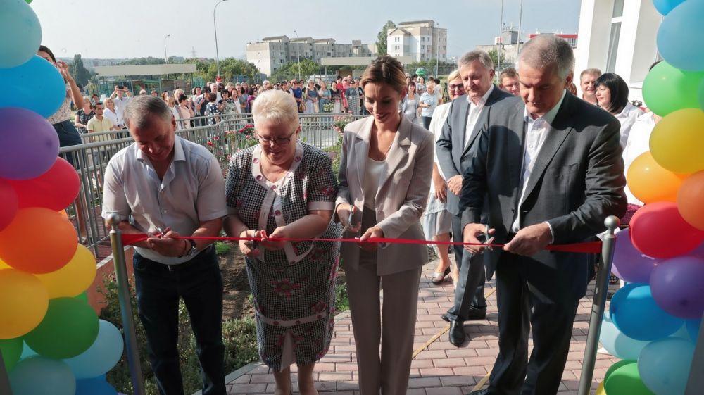 Сергей Аксёнов принял участие в открытии детского сада на 260 мест в Симферополе