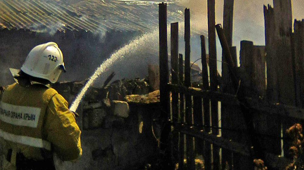 Огнеборцы ГКУ РК «Пожарная охрана Республики Крым» оказали помощь в ликвидации пожаров в Раздольненском районе