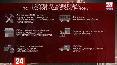 ПорученияСергея Аксёнова по итогам выездного совещания в Красногвардейском районе