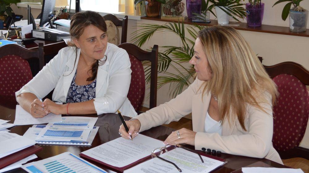 Людмила Бланк провела рабочее совещание с Уполномоченным по защите прав предпринимателей в Республике Крым