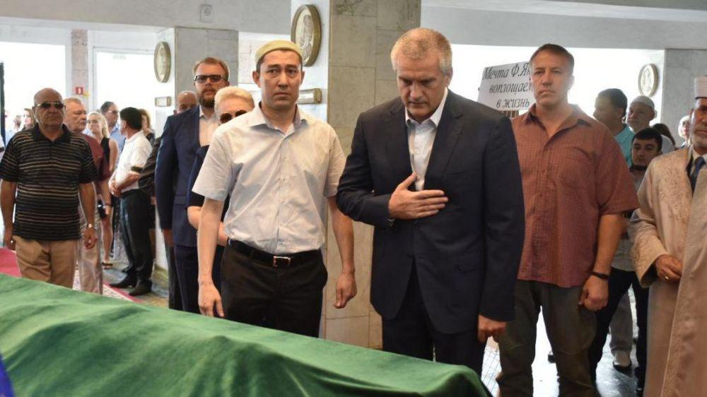 Сергей Аксёнов принял участие в церемонии прощания с Февзи Якубовым