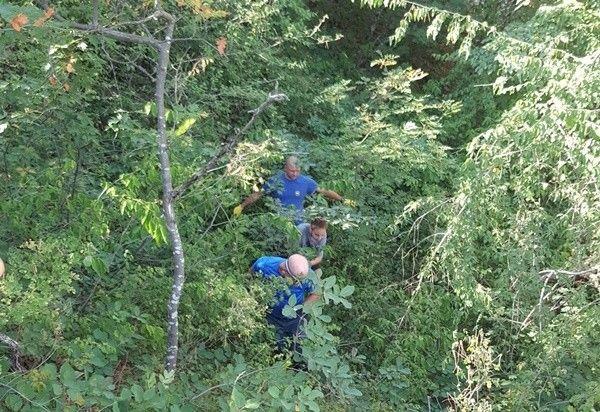 Со скального участка на Боткинской тропе в Ялте эвакуированы двое туристов