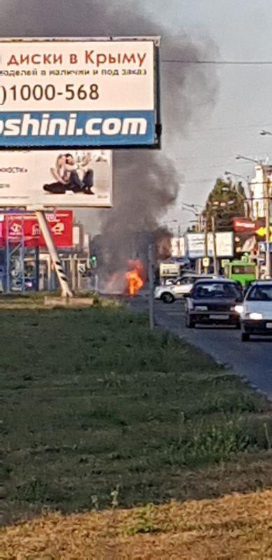 На проспекте Победы сгорел автомобиль