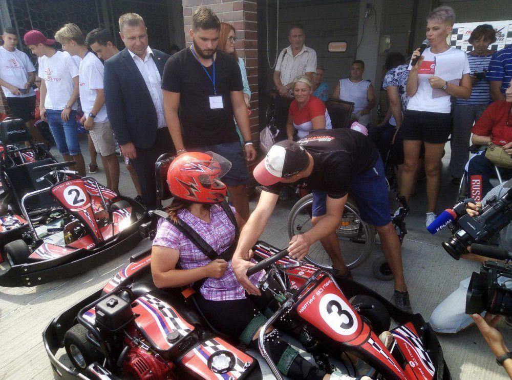 Крымчане вошли в тройку лидеров на гонке «Картинг без границ»