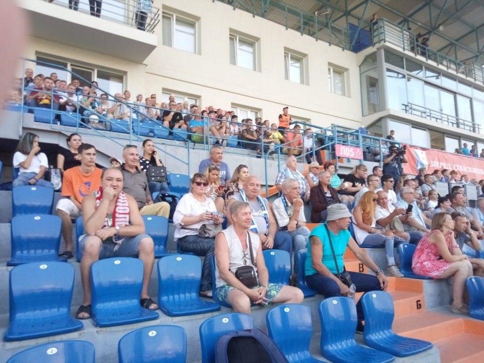 Вничью закончился первый тайм матча команд «Севастополь» и «Евпатория»