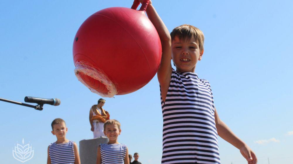 В селе Красногвардейск Советского района открылась новая спортплощадка