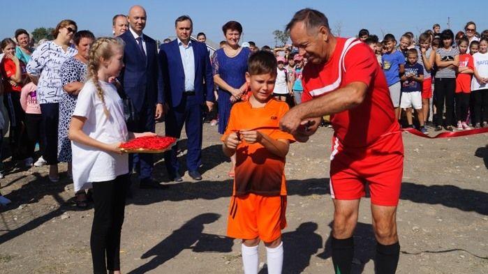 В селе Красногвардейское Советского района состоялось торжественное открытие спортивной площадки