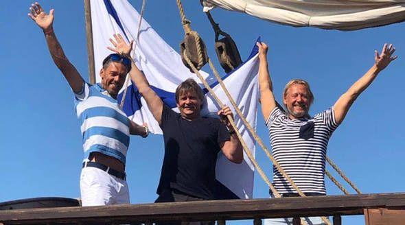 Дружинина в Крыму показала 30-метровый корабль гардемаринов