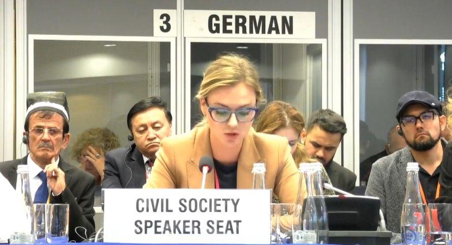 Мария Волконская во второй раз выступила на сессии ОБСЕ вопреки протестам Украины и Канады