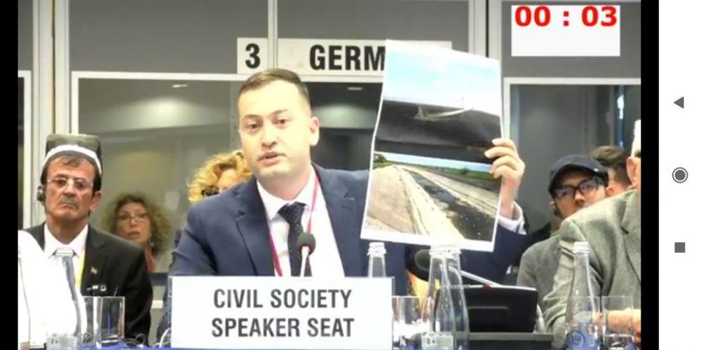 Крымский татарин выступил с докладом на совещании ОБСЕ в Варшаве