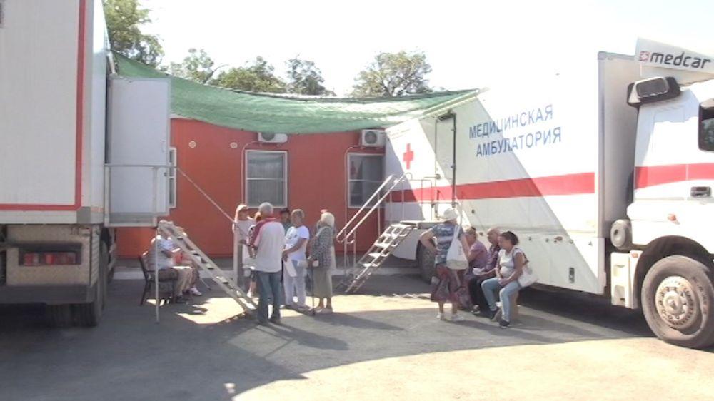 В Орлином врачи провели выездное медицинское обследование