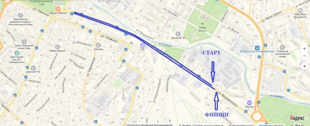 Где в Крыму пройдёт «Кросс нации» и какие для этого улицы перекроют