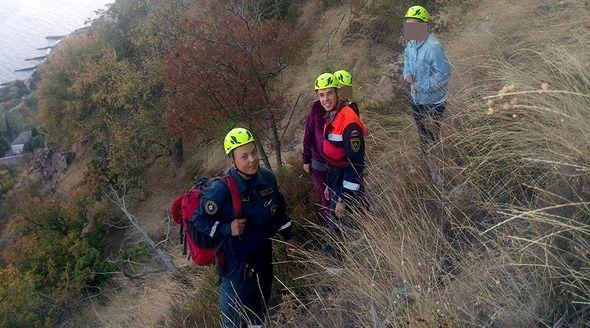 Две москвички застряли на горе под Алуштой