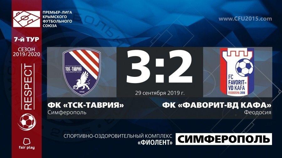 «ТСК-Таврия» вышла в лидеры седьмого тура Премьер-лиги КФС