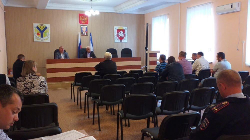 В администрации Нижнегорского района состоялось заседание комиссии по предотвращению и ликвидации чрезвычайных ситуаций