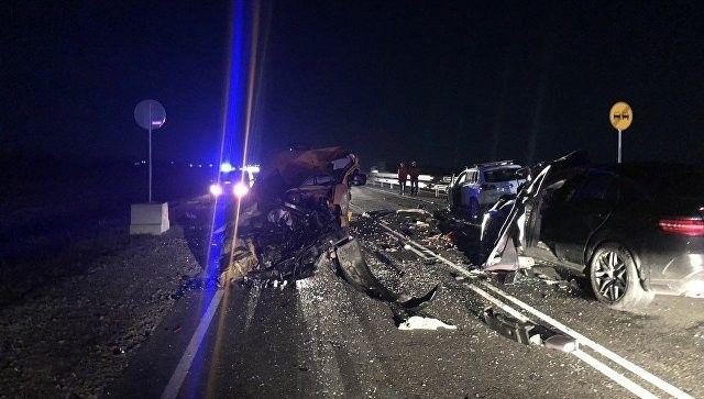 На трассе «Таврида» столкнулись пять автомобилей