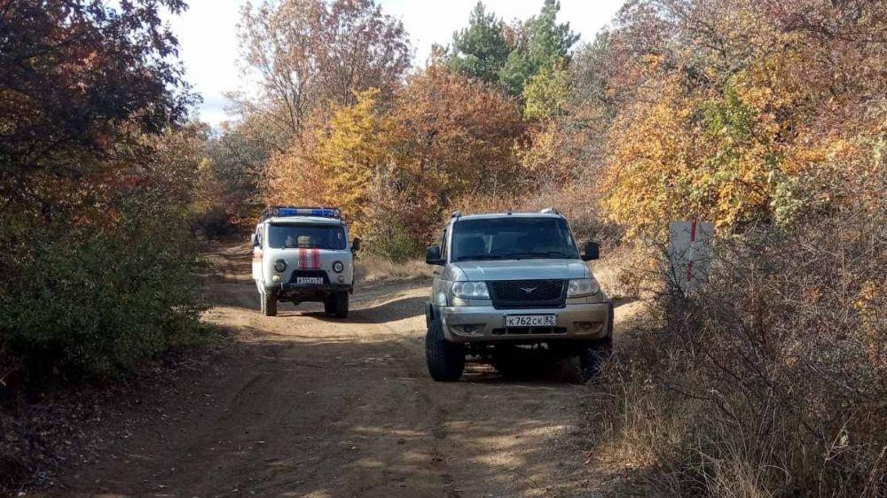Спасатели «КРЫМ-СПАС» продолжают осуществлять патрулирование горно-лесной местности