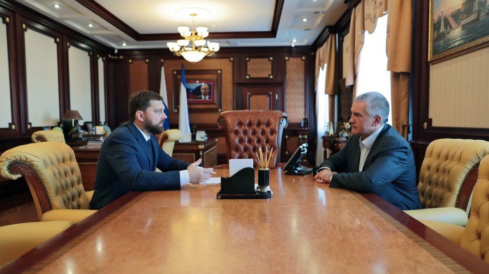 Сергей Аксёнов провёл рабочую встречу с руководителем Федерального агентства по делам национальностей Игорем Бариновым