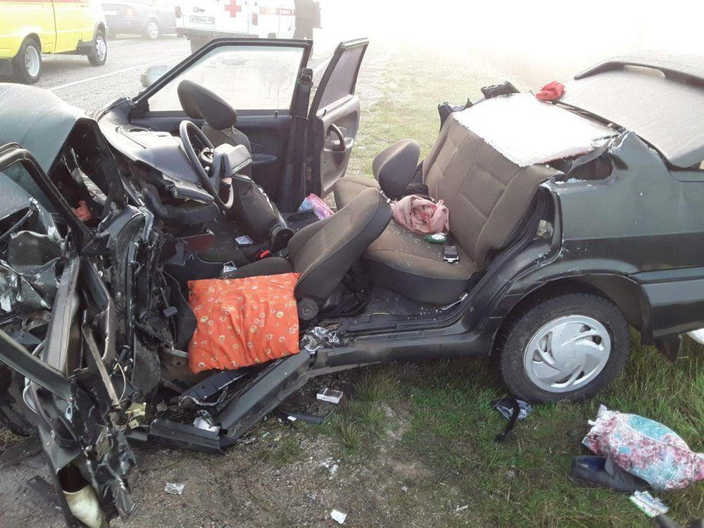 Машины всмятку: Смертельное ДТП произошло утром в Черноморском районе