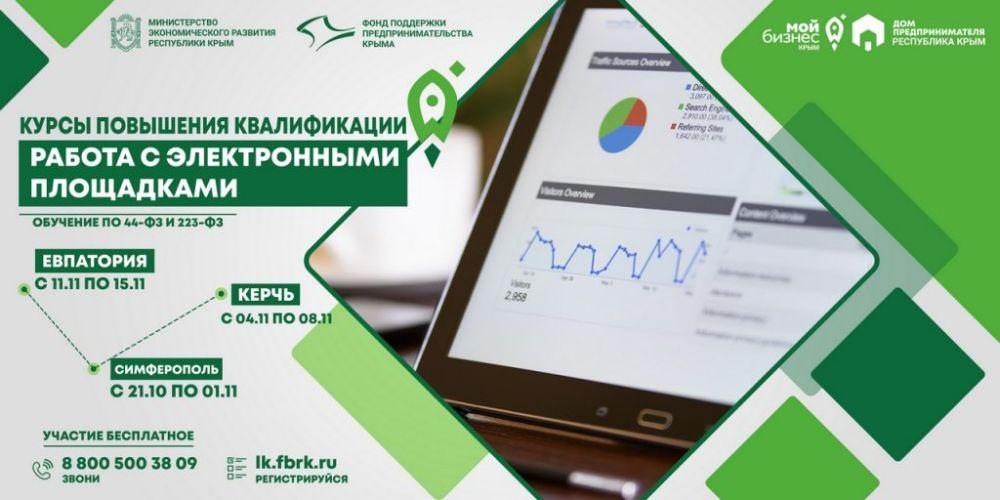Курсы повышения квалификации «Работа с электронными площадками»