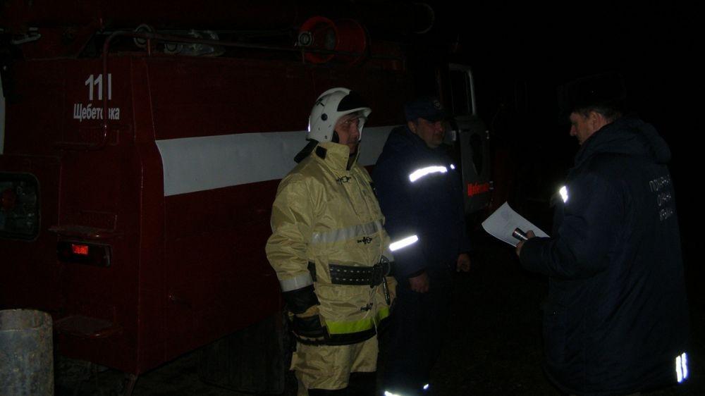 Ночной пожар в городском округе Феодосия был ликвидирован сотрудниками ГКУ РК «Пожарная охрана Республики Крым»
