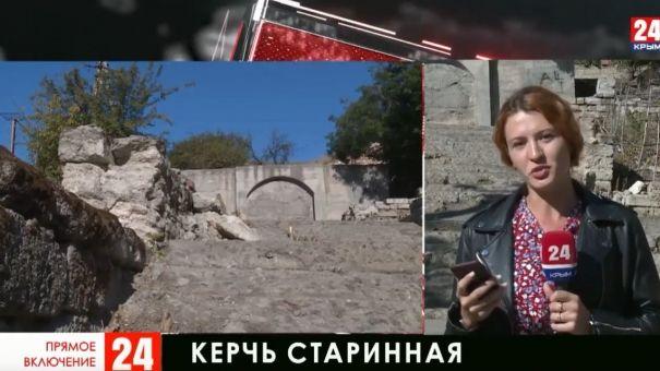 В центре Керчи старинная лестница нуждается в реконструкции