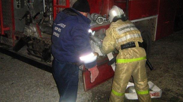 Пожар на территории частного домовладения в городском округе Алушта был ликвидирован сотрудниками ГКУ РК «Пожарная охрана Республики Крым»