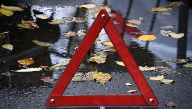 В Симферополе столкнулись четыре машины - видео