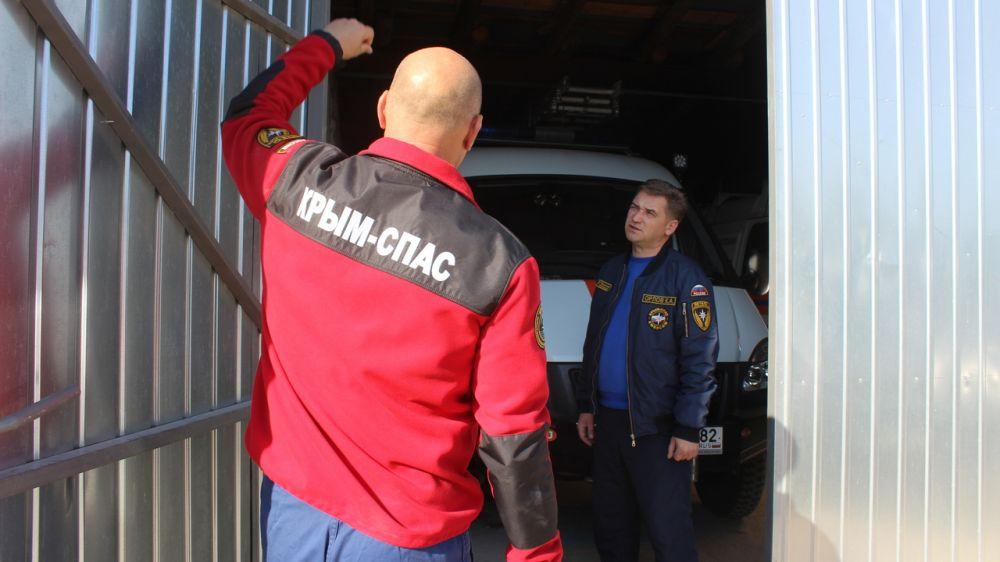 Руководство ГКУ РК «КРЫМ-СПАС» продолжает проводить проверки аварийно-спасательных отрядов по подготовке к зимнему периоду