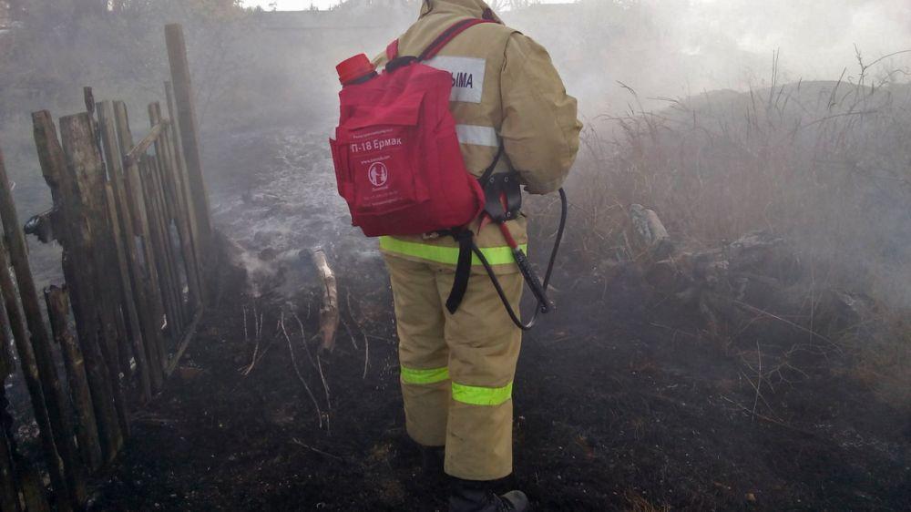 Благодаря слаженным и оперативным действиям сотрудников ПЧ 116 ГКУ РК «Пожарная охрана Республики Крым» крупное возгорание сухой растительности было вовремя ликвидировано