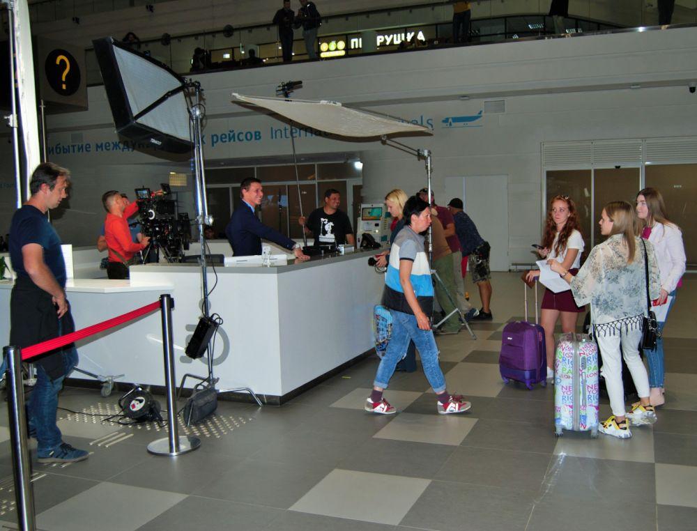 В аэропорту Симферополя снимали телесериал